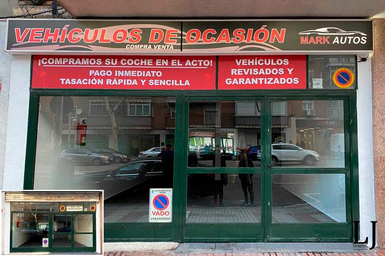 Instalación de vinilos y rótulo en Madrid